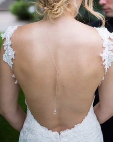 Back Drop Bridal Necklace, Delicate Bridal Backdrop Necklace perfect for a backless wedding gown. Silver, Gold or Rose Gold Fill Glamorous Wedding, Chic Wedding, Wedding Trends, Dream Wedding, Wedding Ideas, Yellow Wedding, Spring Wedding, Gold Wedding, Bridal Backdrop Necklace