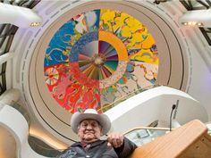 Artist Alex Janvier, whose Morning Star ceiling mural adorns the River Salon at the Canadian Museum of History, Ottawa