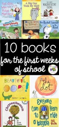 books for the first weeks of school: start building the classroom community with these great read alouds for kindergarten and first grade!