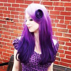 Gorgeous Pravana VIVIDS by Melissa Meacham of Rogue Hair Studio.