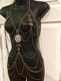 3d3cde454ba6d Elegant and Fashionable Gift. Fashion Body Chains. Bronze Shoulder Chains.  Body Harness. Necklace. M