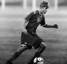 justin bieber playing soccer...love