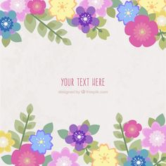 Free vector Spring flowers card #21688