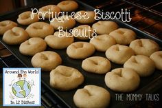 easy biscotti cookie recipe for baking with little kids Biscotti Biscuits, Biscotti Cookies, Cookie Recipes For Kids, Baking Recipes, Portuguese Recipes, Portuguese Food, Preschool Food, No Bake Cookies, Cooking With Kids