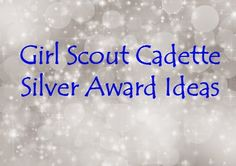 Ideas for Cadettes to earn the SIlver Award.