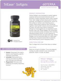 doterra product information sheets - Google Search