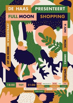 """De Haas Presenteert Full Moon Shopping is a concept of a bunch ofshops ina shopping district in Utrecht, The Netherlands. The design is is inspired by """"De Haas"""" (The Hare) a big statue at the beginning of the main shopping street."""