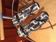 Sandalias decoradas con washi tape