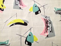 George Jetson's Atomic Mobile 3D Barkcloth Fabric