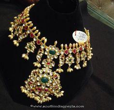 150 Grams Gold Long Necklace Design
