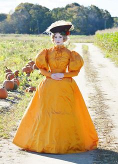 "1890's Day Dress, the ""Pumpkin"" Gown"