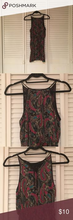 Forever 21 sundress Forever 21 sundress, cinched waist, never worn, new without tags. Multi color Paisley print. Forever 21 Dresses Mini