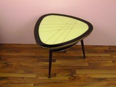 Vintage Nierentisch, 50er 60er Jahre, Glasscheibe von ShabbRock Republic auf DaWanda.com