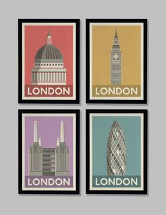 Lucy Loves This - Battersea Power Station, Big Ben, St. Pauls Cathedral, The Gherkin prints