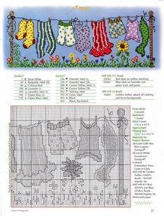 Clothesline Dots - 2/2 Solo Patrones Punto Cruz | Aprender manualidades es facilisimo.com