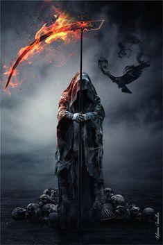 Empire Merchandising 668226 Liliana Sanches, Reapers Raven, Fantasy Gothic Poster Plakat Druck, Größe 61 x 91,5 cm: Amazon.de: Küche & Haushalt