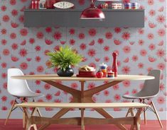 modern retro dining table