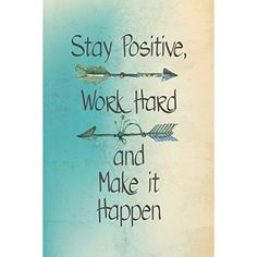 Stay Positive Work Hard And Make It Happen Motivational Sign Inspirational Quote  2 Pack Signs >>> Click on the image for additional details. Note:It is Affiliate Link to Amazon.