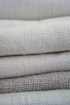 A fresh selection of linen fabrics in neutral colours is all part of Sarah Hardakers classic style and Plain Vintage Linen Fabric Collection Linen Fabric, Linen Bedding, Grey Fabric, Linen Cloth, Bed Linen, Cotton Fabric, Linens And Lace, Fabric Textures, Trendy Bedroom