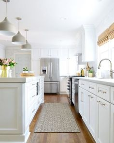 Yes. This. Via @providenthomedesign on Instagram. Loving @younghouselove 's recent kitchen makeover!  So light and airy!