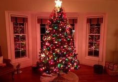 In our front room, you will find another #ChristmasTree! 😀🎄 This is where you will find the #family gathering to open #presents. I'll have to take a new pic since I've wrapped most of the #gifts. #christmasdecor #holidayseason #Christmas #tree #holidaydecor