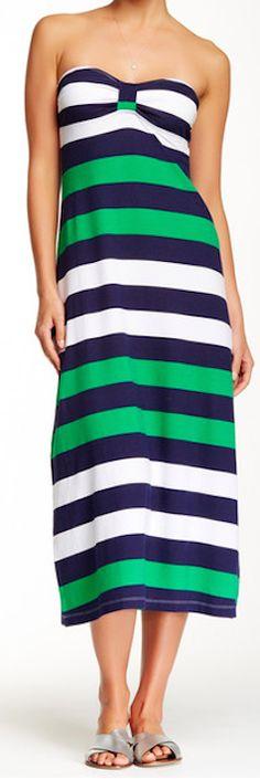Tommy Bahama bandeau striped maxi-dress