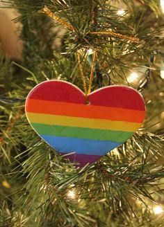 Gay Pride Lesbian Christmas Ornament LGBT Gift by NewPrideDesigns on Etsy