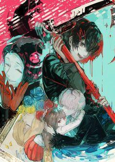 Juuzou , Hinami , Haise , Furuta - Tokyo Ghoul re: