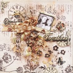 Layout using Prima engraver collection - Scrapbook.com