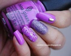 Lavender Touch Nail Art