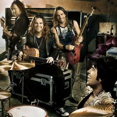 Maná is a Mexican rock band from Guadalajara, Jalisco. The group's current line-up consists of vocalist/guitarist Fher Olvera, drummer Alex González, guitarist Sergio Vallín, and bassist Juan Calleros. Considered the biggest Latin rock band in the world