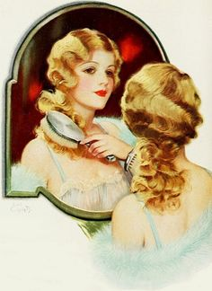 From a Mulsified Coconut Oil Shampoo ad, 1929.