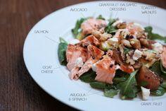 Grapefruit & Avocado Balsamic Salmon Salad