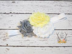 Spring Baby Headband  Pastel Yellow Mint Pink  by TheRogueBaby, $5.95