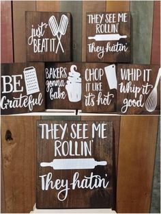 Rustic Musical Kitchen Signs