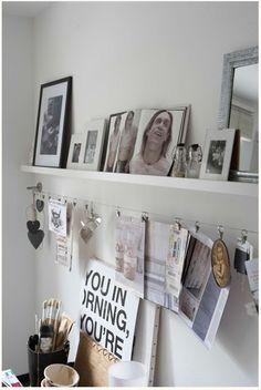 Ordnung am Schreibtisch - Schöne und schlichte Lösung für Postkarten, Einladungen, Speisekarten etc.