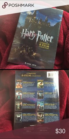 NWT Harry Potter Complete Collection Set of 8 DVDs Brand new - still sealed in plastic!  https://www.amazon.com/Harry-Potter-Complete-8-Film-Collection/dp/B005OCFGTO Other