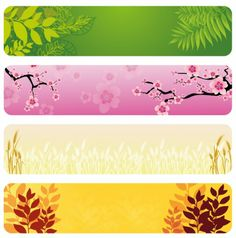 BANNER / Free vector Vector banner Natural Banners