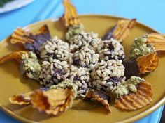 Crunchy Chocolate Almond Bites And Chocolate-Dipped Sweet Potato Chips