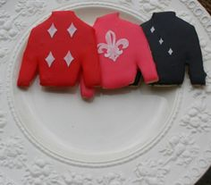 Jockey silks cookies for a Kentucky Derby Party.  I don't have time for these but they're very cute.