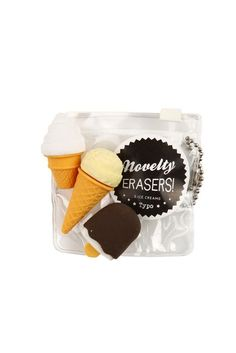 novelty eraser pack ICE CREAM