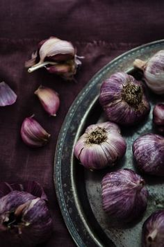 Garlic purple food violet photography color