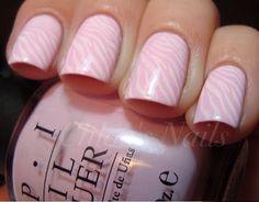 Pink and White Zebra Nails