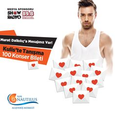 19 Eylül'de Tepe Nautilus'ta gerçekleşecek konserimizde mesajlarınızı Murat Dalkılıç'a iletiyoruz! Jurimizin seçeceği en güzel mesajların sahibi 5 kişi kuliste Murat Dalkılıç'la tanışacak, 50 kişi konsere iki kişilik bilet kazanacak! Bu şansı yakalamak için Murat Dalkılıç'a söylemek istediklerinizi Facebook mesajı ile bize gönderin. Kazananlar 18 Eylül Cuma saat 14:00'da sayfamızda açıklanacak! Mesajlarınızı bekliyoruz