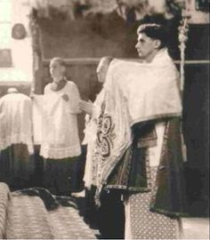 Joseph Ratzinger as a subdeacon, 1951. Credit to New Liturgical Movement via Rorate Caeli.