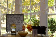 You Are My Sunshine themed baby shower! :) too cute (and could be gender neutral)