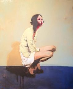 """Yellow"" 36"" x 30"" Michael Carson  Oil on canvas"