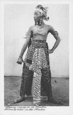 Prince as Wayang Dancer, Java Indonesia ca 1920