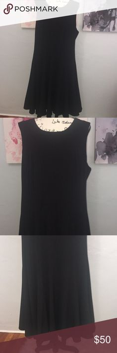 Black twirly dress Calvin Klein Perfect LBD for work or play. Twirly hem. Very flattering fit. Calvin Klein Dresses