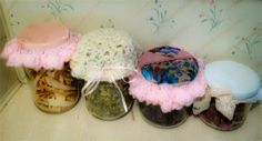 Quick, easy gift idea for Mom from http://cherylbdesigns.blogspot.com/2014/05/decorated-jar-lids-quick-easy-fun-gifts.html